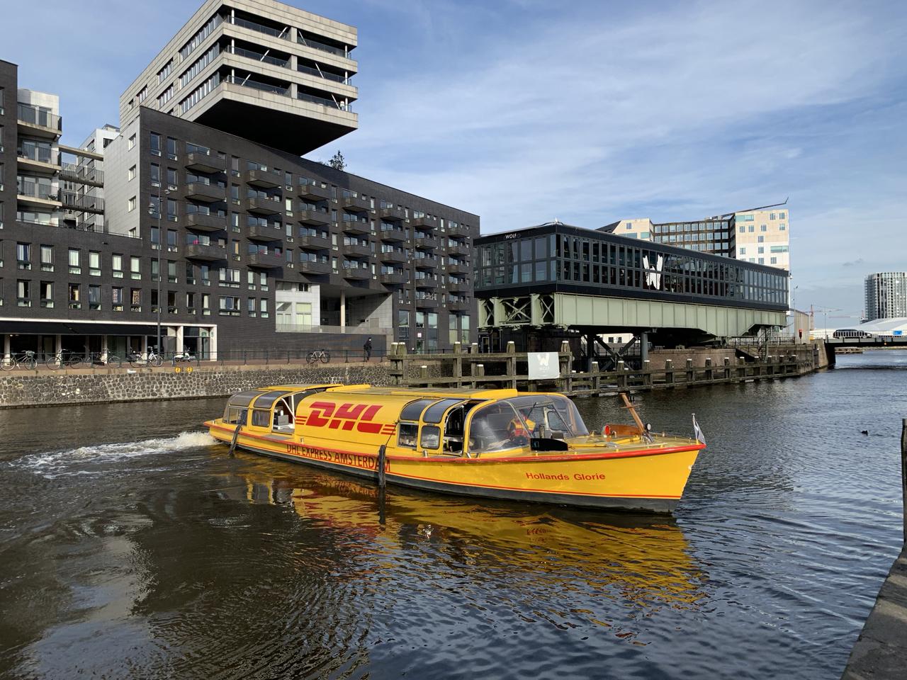 DHL Boot in Amsterdam / Influencer Marketing für DHL
